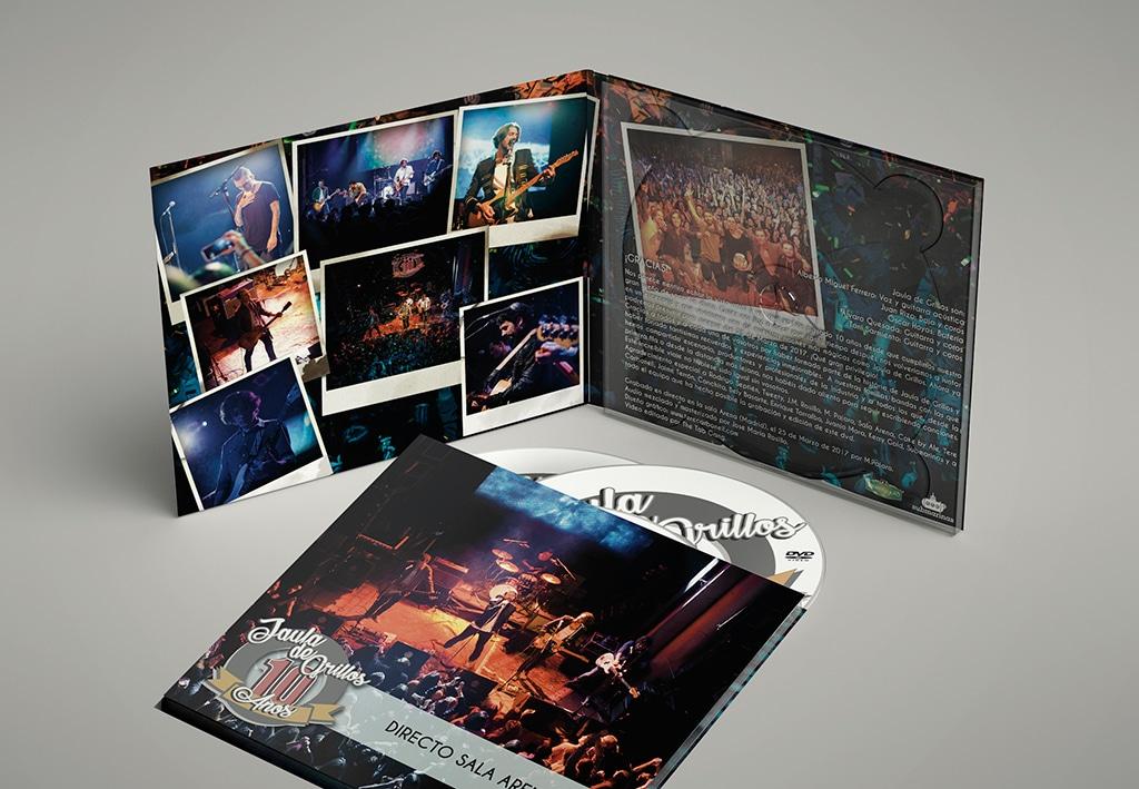 Diseño DVD Concierto – Jaula de Grillos